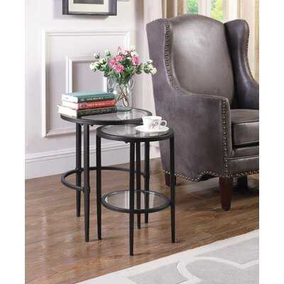 Adele Glass Top Nesting Tables - Wayfair