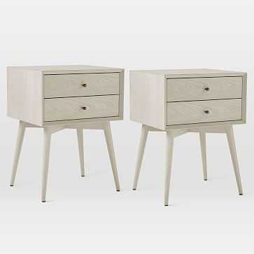 Mid-Century Nightstand, Pebble, Set of 2 - West Elm