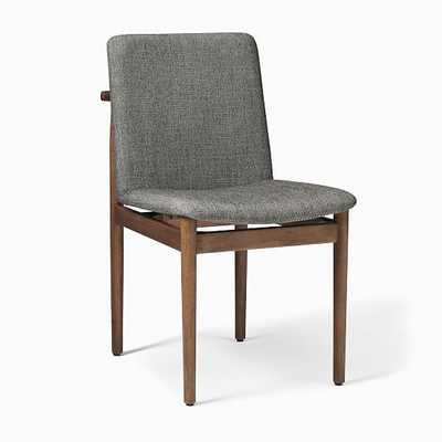 Framework Dining Chair, Twill, Granite, Burnt Wax - West Elm