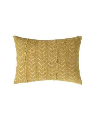 mustard petite mud cloth pillow - with insert - PillowPia
