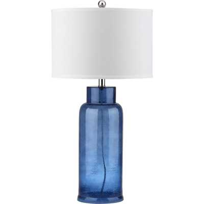 Safavieh Bottle 29 in. Blue Table Lamp - Home Depot