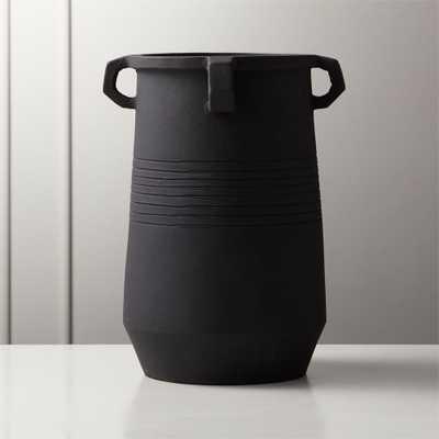 Stock Matte Black Vase - CB2