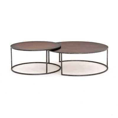 Four Hands Catalina Nesting Coffee Table Table Top Color: Copper Clad - Perigold