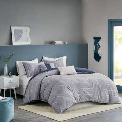 Bryce Full/Queen 5pc Cotton Rich Chambray Duvet Cover Set Indigo, Blue - Target