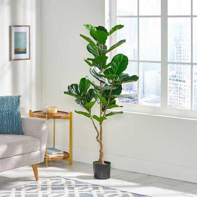 Artificial Fiddle-Leaf Fig Tree in Pot - Wayfair