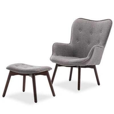 Hallsville Lounge Chair and Ottoman - Wayfair