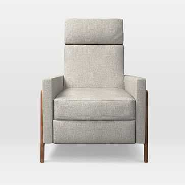 Spencer Recliner, Twill, Stone - West Elm