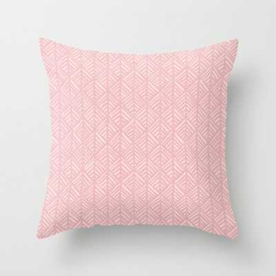 """Abstract Leaf Pattern In Pink Couch Throw Pillow by Becky Bailey - Cover (20"""" x 20"""") with pillow insert - Outdoor Pillow - Society6"""