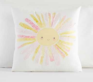 "Smiling Sun Pillow, Multi, 16x16"" - Pottery Barn Kids"