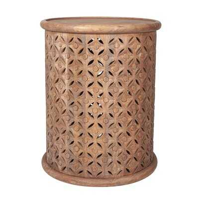 Gerlind Solid Wood Drum End Table - Wayfair