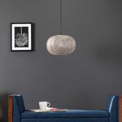Southern Enterprises Hartz 1-Light Antique Silver Bohemian Hanging Pendant Light - Home Depot