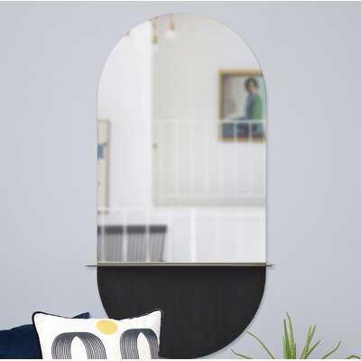 Irregular Unframed Shelves Wall Mirror - AllModern
