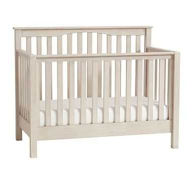 Kendall 4-in-1 Convertible Crib & Lullaby Supreme Mattress Set, Weathered White - Pottery Barn Kids