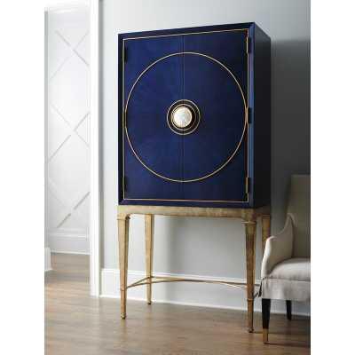 Lexington Carlyle Meridian Bar Cabinet Color: Cobalt - Perigold