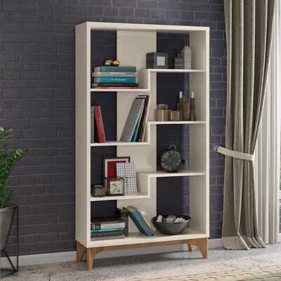 Caceres Geometric Bookcase - Wayfair