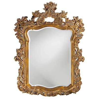 Howard Elliott Turner Antique Gold Mirror Wall Decal - Home Depot