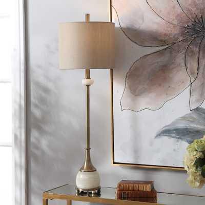 Natania Plated Brass Buffet Lamp - Hudsonhill Foundry