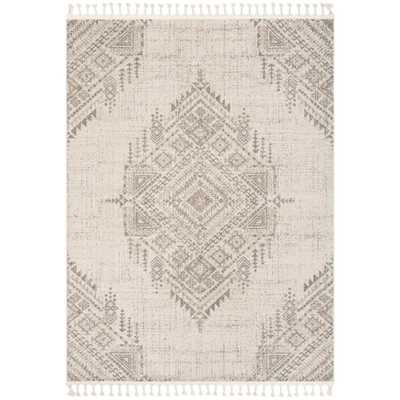 Well Woven Loop-De-Loop Anette Beige Vintage Medallion 7 ft. 10 in. x 10 ft. 6 in. Flat-Weave Area Rug - Home Depot