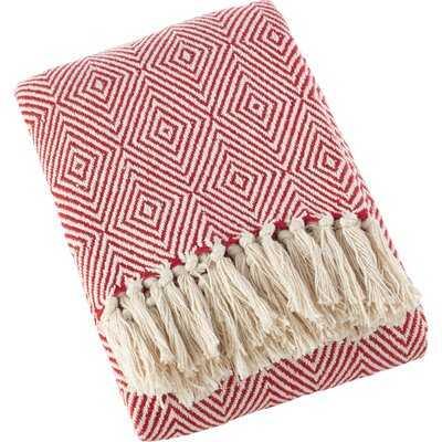 Mayer Diamond Weave Soft Cotton Throw - Birch Lane