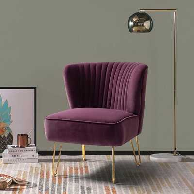 "Ansleigh 26"" W Velvet Side Chair - Wayfair"