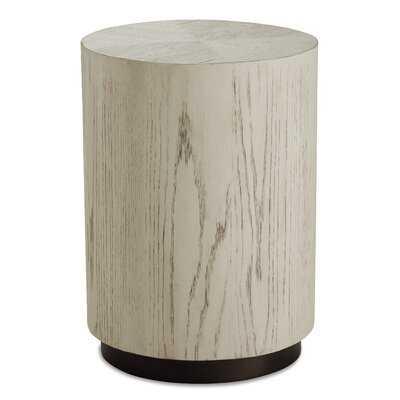 Matsuda Solid Wood Drum End Table - Wayfair