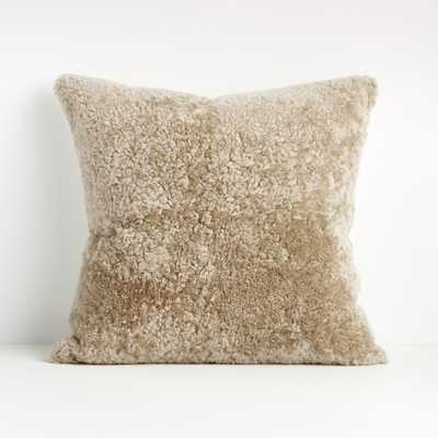 """Andreo 20"""" Mushroom Pillow Cover - Crate and Barrel"""