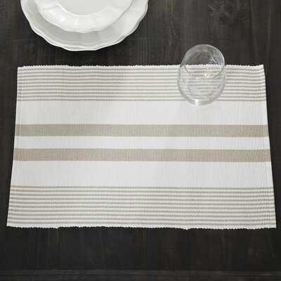 "Newenton Striped 19"" Cotton Placemat - Birch Lane"