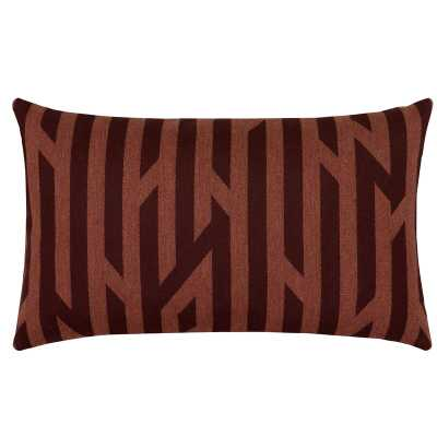 Elaine Smith Zest Tang Sunbrella Indoor / Outdoor Geometric Lumbar Pillow Color: Red - Perigold