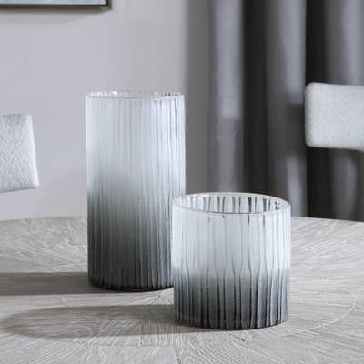 Como Etched Glass Vases, S/2 - Hudsonhill Foundry