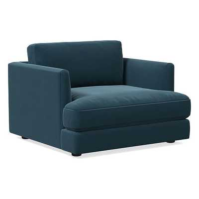 Haven Chair, Trillium, Performance Velvet, Lagoon, Concealed Supports - West Elm