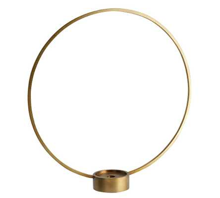 Kinsey Circular Candlestick, Brass, Large - Pottery Barn