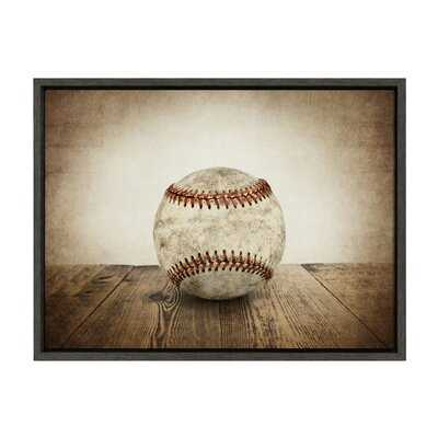 'Vintage Baseball' by Shawn St.Peter- Floater Frame Photograph Print on Canvas - Wayfair