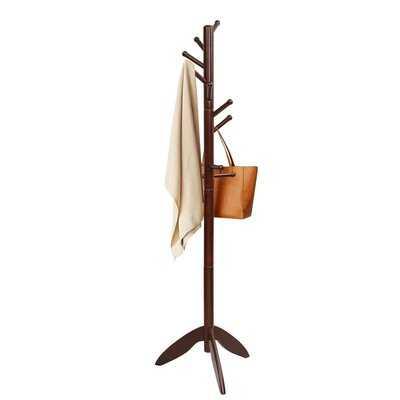 Mcnab Solid Wood 11 - Hook Freestanding Coat Rack - Wayfair