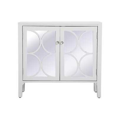 Comerfo 2 Door Mirrored Accent Cabinet - Wayfair