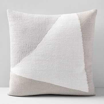 "Amplified Arrow Pillow Case, Frost Gray, 24""x24"" - West Elm"
