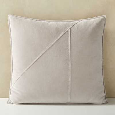 """Washed Cotton Velvet Pillow Cover, 24""""x24"""", Stone Gray - West Elm"""