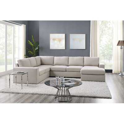 "Cheryle 120"" Reversible Modular Sectional - Wayfair"