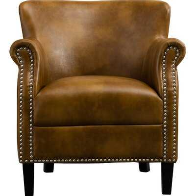 "Gail 29.5"" W Faux Leather Armchair - Wayfair"