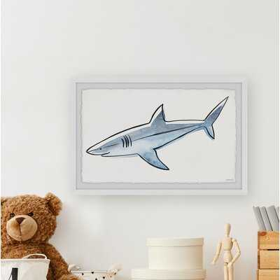Leatrice Rogue Shark Framed Art - Wayfair