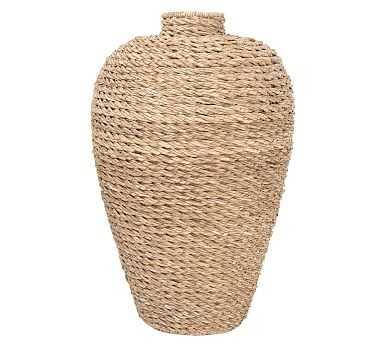 Patricia Seagrass Oversized Tall Vase - Pottery Barn