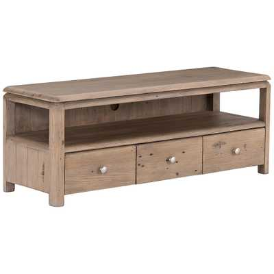 "Monroe 47 1/4"" Wide Rustic Wood 3-Drawer Media Console - Style # 97R12 - Lamps Plus"