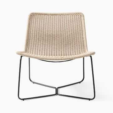 Outdoor Slope Collection Natural Lounge Chair-Individual - West Elm