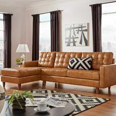 """Stallings 83.5"""" Wide Faux Leather Large Sectional - Wayfair"""