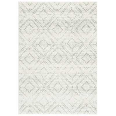 Geometric Ivory/Green Area Rug - Wayfair