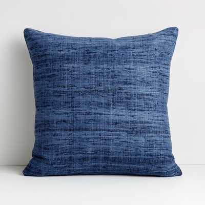 """Trevino 20"""" Blue Pillow Cover - Crate and Barrel"""