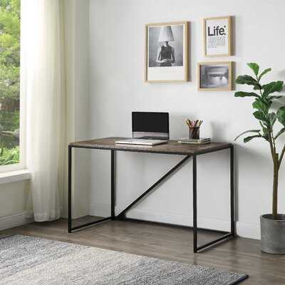 Home Office 46-Inch Computer Desk, Small Desk Home Office Study Desk Metal Frame, Modern Simple Laptop Table, Easy Assembly, Industrial Style(Brown) - Wayfair