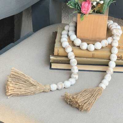 Clay Bead Garland with Twine Tassel - Wayfair