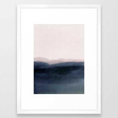 Dusk Scenery Framed Art Print by Iris Lehnhardt - Vector White - MEDIUM (Gallery)-20x26 - Society6