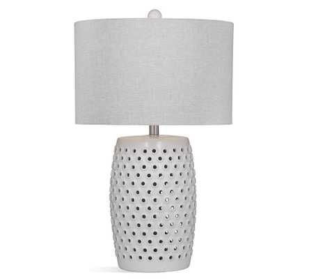 Montague Ceramic Table Lamp, White - Pottery Barn