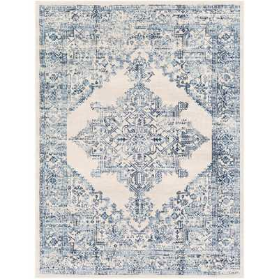 Artistic Weavers Saray White/Blue 7 ft. 10 in. x 10 ft. Area Rug - Home Depot